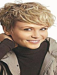 Ženy Strawberry Blonde / Bleach Blonde Vlnité Umělé vlasy Bez krytky Přírodní paruka paruky