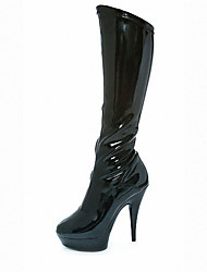 cheap -Women's Boots Spring / Winter / Fashion Boots Patent Leather Party & Evening / Dress / Stiletto Heel ZipperBlack /