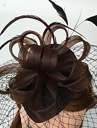 red de plumas fascinators birdcage velos casco elegante estilo