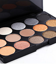 cheap -15 Eyeshadow Palette Dry / Mineral Eyeshadow palette Powder Set Daily Makeup / Halloween Makeup / Party Makeup