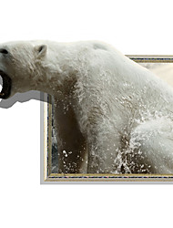 cheap -3D Wall Stickers Sea Lions Bear Hole PVC Material Decorative Skin Wall Stickers