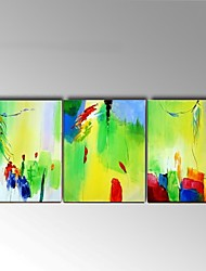 Handpainted Light green Wall Art Abstract Oil Painting Stretchered Frame