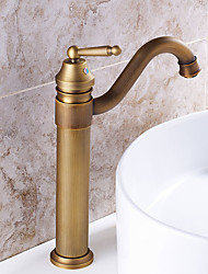 cheap -Deck Mounted Rotatable with Ceramic Valve Single Handle One Hole for Antique Brass , Kitchen faucet