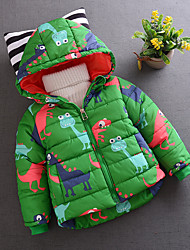 Boy's Casual/Daily Print Jacket & CoatCotton Winter Black / Green