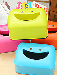 Creative Smiling Face Tissue Box Tissue Box Cartoon Dining Table Smile (Random Colours)