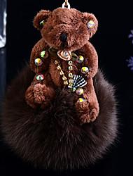 economico -ciondolo chiave dell'automobile femmina di coniglio orso di peluche portachiavi
