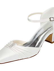 cheap -Women's Heels Spring / Fall Others Stretch Satin Wedding / Party & Evening / Dress Chunky Heel Crystal Ivory / White Others