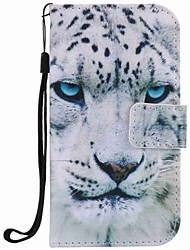 cheap -For Samsung Galaxy S7 edge S7 Case Cover White Leopard Painting PU Phone Case S5 S4 S3