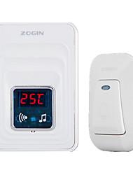 Недорогие -# Пластик Невизуальные дверной звонок Беспроводной Doorbell системы