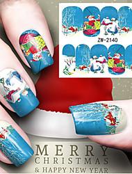 Недорогие -1 Стикер искусства ногтя Вода Передача Переводные картинки макияж Косметические Nail Art Design