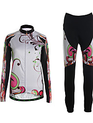 Sports Cycling Jersey with Bib Tights Women's Long Sleeve Breathable / Thermal /3D Pad / Ultra Light Fabric /
