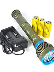 cheap -LED Flashlights / Torch / Handheld Flashlights / Torch LED 10000 lm 1 Mode Waterproof / Super Light Camping / Hiking / Caving / Diving / Boating / Hunting