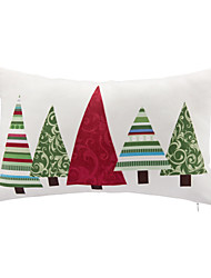 cheap -1 pcs Leather/suede Christmas Accent/Decorative Pillow With Insert 12x18 inch