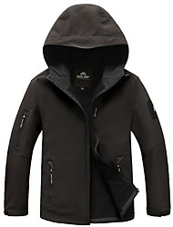 cheap -Men's Hiking Jacket Outdoor Waterproof, Thermal / Warm, Windproof Softshell Jacket / Top Camping / Hiking