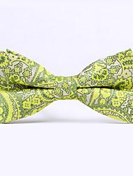 Недорогие -Для мужчин Винтаж / Для вечеринки / Для офиса / На каждый день Бабочка,Хлопок / Смесь хлопка Шахматка,Черный / Зеленый / Синий / Желтый