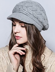 cheap -Women's Vintage Casual Ski Hat - Solid Colored