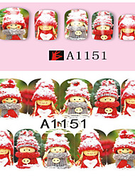 billige -10 Nail Art Sticker 3D Negle Stickers Makeup Cosmetic Nail Art Design