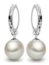 Fine S925 Silver Pearl Drop Earrings
