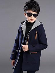 Junge Trenchcoat Lässig/Alltäglich einfarbig Polyester Winter Lange Ärmel