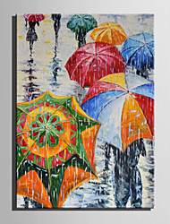 cheap -Mini Size E-HOME Oil painting Modern Umbrella In The Rain Pure Hand Draw Frameless Decorative Painting