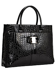 cheap -Women Bags PU leatherette Tote Buttons for Casual Outdoor Winter Black