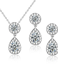 cheap -Women's AAA Cubic Zirconia Jewelry Set - Include Bridal Jewelry Sets Red / Green / Blue For Wedding / Party / Daily / Casual
