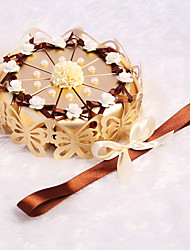 cheap -Cylinder Card Paper Favor Holder with Bowknot / Pearl / Ribbons Favor Boxes - 10