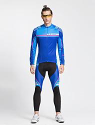 baratos -TASDAN Calça com Camisa para Ciclismo Homens Manga Comprida Moto Calças Camisa/Roupas Para Esporte Meia-calça Blusas Conjuntos de Roupas