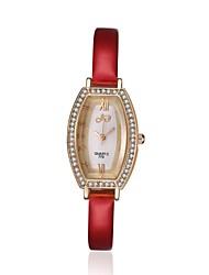 economico -Da donna Orologio elegante Orologio alla moda Resistente all'acqua Quarzo Pelle Banda Ciondolo Casual classe Nero Bianco Rosso Rosa