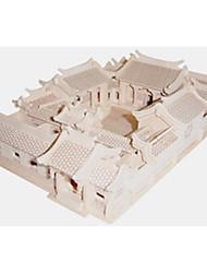 Quebra-cabeças Quebra-Cabeças de Madeira Blocos de construção DIY Brinquedos Quadrangular / Arquitetura chinesa 1 Madeira Ivory