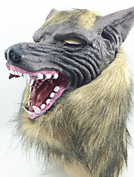 halloween creepy gomma animale mane lupo mannaro lupo testa maschera halloween masquerade cosplay party costume prop
