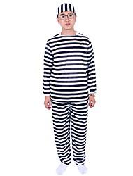 Vestito da Serata Elegante / Stile Carnevale di Venezia Detenuto Cosplay per film Nero A strisce Top / Pantaloni / CappelliHalloween /