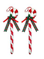 1pc noël ornements de fête des charmes de fête de vacances décoration amour jolie maison 1 pc coloré petit un ensemble béquille