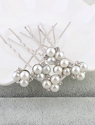 cheap -Pearl Hair Pin 1 Wedding Special Occasion Casual Office & Career Outdoor Headpiece