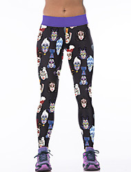 cheap -Women's Going Out Daily Stretchy High Street Print Legging,Spandex