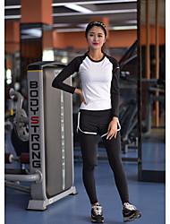 Yoga Set di vestiti/Completi Traspirante / Comodo / Morbido / Liscio Elastico Abbigliamento sportivo Per donna-Sportivo,Yoga
