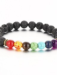 2016 New Natural Black Lava Stone Bracelets Balance Beads Bracelet for Men Women Stretch Yoga Jewelry Christmas Gifts