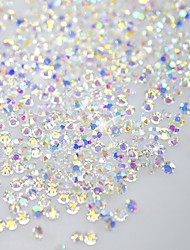 120pcs briller octogonales forme ongles art décorations paillettes strass 3d SS3 en cristal clair ab diamant dos plat /