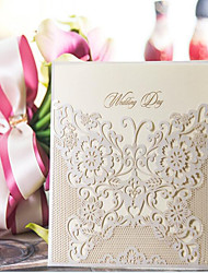 Flat Card Wedding Invitations 10-Invitation Sample Art Paper