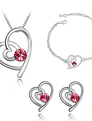 cheap -Women's Jewelry Set Crystal Fashion Daily Earrings Necklaces Bracelets & Bangles