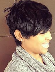 Недорогие -Человеческие волосы без парики Натуральные волосы Классика / Естественные волны Парик Повседневные