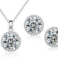 cheap -Women's AAA Cubic Zirconia Jewelry Set Earrings Necklace - Multi-ways Wear Bridal Jewelry Sets For Wedding Party Daily Casual