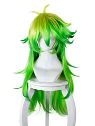 cheap -Costume Wigs / Synthetic Wig Straight Green Women's Capless Carnival Wig / Halloween Wig / Cosplay Wig Long / Very Long Synthetic Hair