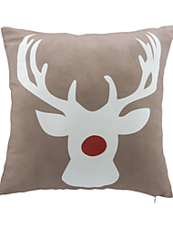 cheap -1 pcs Leather/suede Christmas Accent/Decorative Pillow With Insert 18x18 inch