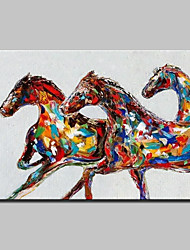 Hand Painted Modern Abstract Horse Animal Oil Painting On Canvas Wall Art Picture For Home Decoration Ready To Hang