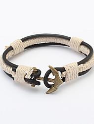 cheap -European Style Retro Vintage Fashion Anchor Woven Bracelet