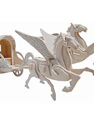 Modellini di legno Macchine giocattolo Giocattoli Carrozza Cavallo Livello professionale Da ragazzo Da ragazza 1 Pezzi