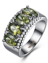 Dámské Prsten Kubický zirkon bižuterie Zirkon Měď Titanová ocel Volframová ocel Šperky Pro Párty Denní Ležérní