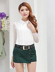 preiswerte -Damen Einfach Lässig/Alltäglich Mini Röcke A-Linie einfarbig Herbst Winter