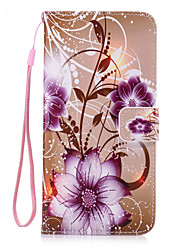 For iPhone 7 Plus 6 Plus 6S SE 5S 5 Flower Pattern PU Leather Full Body Case with Stand and Card Slot